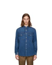 blaue Shirtjacke aus Jeans von Burberry