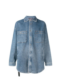 blaue Shirtjacke aus Jeans von Diesel