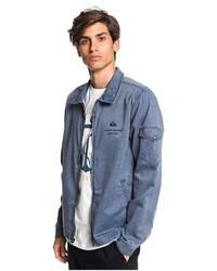 blaue Shirtjacke aus Jeans von Quiksilver