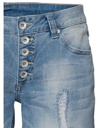 blaue Jeansshorts mit Destroyed-Effekten von B.C. BEST CONNECTIONS by Heine