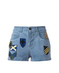 blaue Jeansshorts mit Flicken von Mr & Mrs Italy