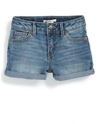 Blaue Jeansshorts