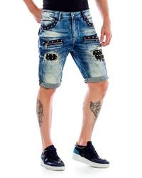 blaue Jeansshorts von Cipo & Baxx