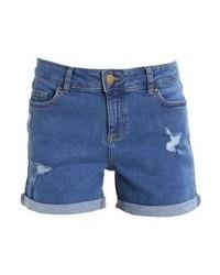 blaue Jeansshorts von Dorothy Perkins