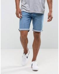 blaue Jeansshorts von Mango