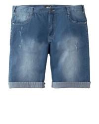blaue Jeansshorts von MEN PLUS BY HAPPY SIZE