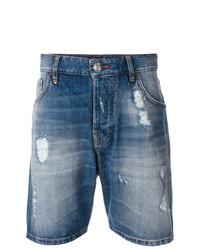 blaue Jeansshorts von Philipp Plein