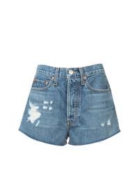 blaue Jeansshorts von RE/DONE