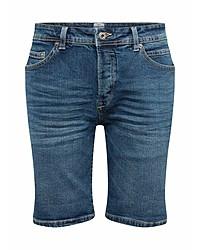 blaue Jeansshorts von Solid