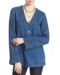 blaue Jeanstunika