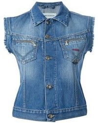 blaue Jeansweste