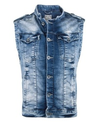 blaue Jeansweste von Cipo & Baxx