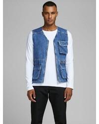 blaue Jeansweste von Jack & Jones