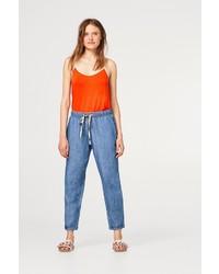 blaue Jogginghose aus Jeans von edc by Esprit