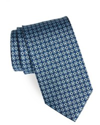 blaue Krawatte mit geometrischen Mustern