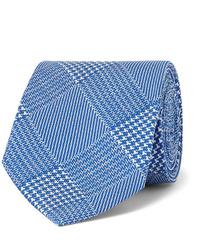 blaue Krawatte mit Hahnentritt-Muster