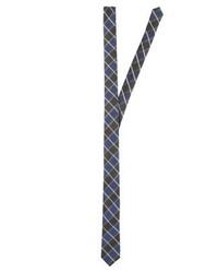 blaue Krawatte mit Karomuster von s.Oliver BLACK LABEL