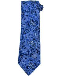 blaue Krawatte mit Paisley-Muster