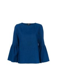 blaue Langarmbluse von A.P.C.