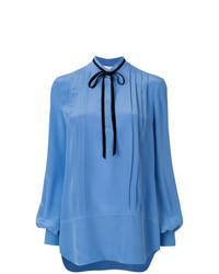 blaue Langarmbluse von Lanvin
