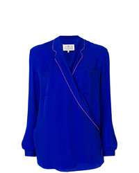 blaue Langarmbluse von Maison Margiela