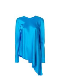 blaue Langarmbluse von MSGM