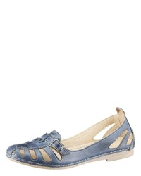 blaue Leder Ballerinas von Gemini