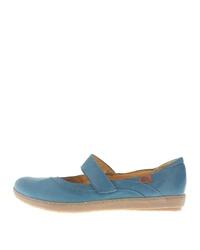 blaue Leder Ballerinas von Josef Seibel