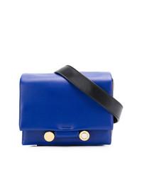 blaue Leder Bauchtasche von Marni