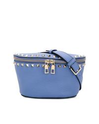 blaue Leder Bauchtasche von Valentino