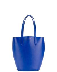 blaue Leder Beuteltasche von Alexander McQueen