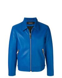 blaue Leder Bikerjacke von Misbhv