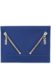 Blaue Leder Clutch von Kenzo