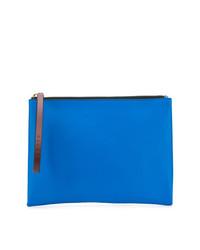 blaue Leder Clutch von Marni