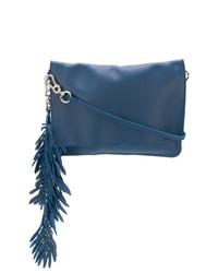blaue Leder Clutch von P.A.R.O.S.H.