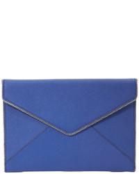 blaue Leder Clutch von Rebecca Minkoff