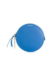 blaue Leder Clutch von Sara Battaglia