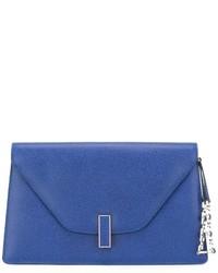 Blaue Leder Clutch von Valextra