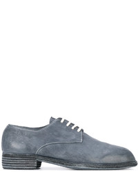 blaue Leder Derby Schuhe von Guidi