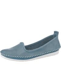 blaue Leder Espadrilles von Andrea Conti