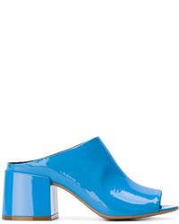 blaue Leder Pantoletten von MM6 MAISON MARGIELA