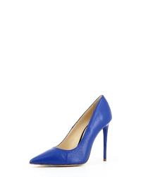 blaue Leder Pumps von Evita
