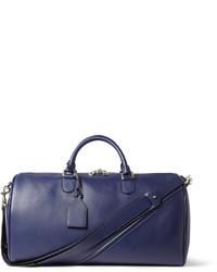 blaue Leder Reisetasche