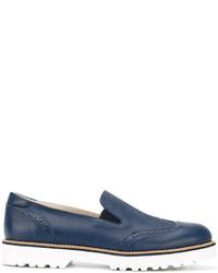 blaue Leder Slipper von Hogan
