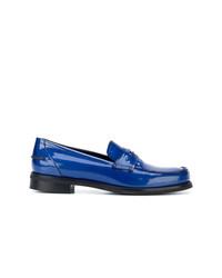 blaue Leder Slipper von Tomas Maier