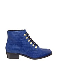blaue Leder Stiefeletten von Bronx
