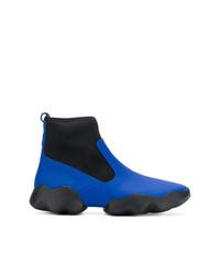 blaue Leder Stiefeletten von Camper