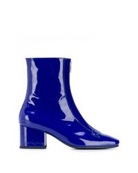 blaue Leder Stiefeletten von Dorateymur