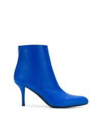blaue Leder Stiefeletten von Marni