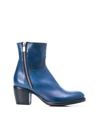 blaue Leder Stiefeletten von Rocco P.